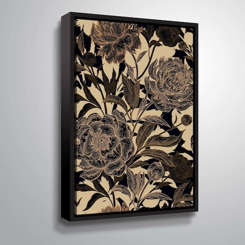 ArtWall 'Golden Rose II' Gallery Wrapped Floater-framed Canvas