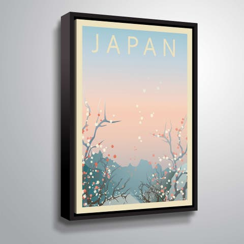 ArtWall 'Japan' Gallery Wrapped Floater-framed Canvas