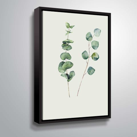 Carson Carrington 'Botanical I' Gallery Wrapped Floater-framed Canvas