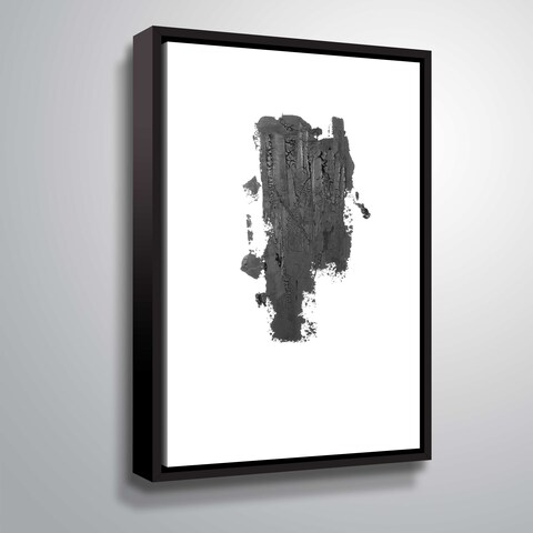 ArtWall 'Coal I' Gallery Wrapped Floater-framed Canvas