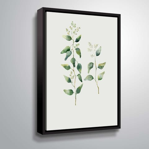 Carson Carrington 'Botanical II' Gallery Wrapped Floater-framed Canvas
