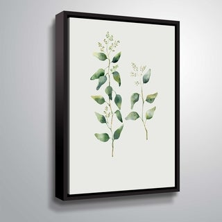 ArtWall 'Botanical II' Gallery Wrapped Floater-framed Canvas