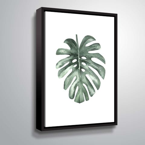 ArtWall 'Water leaf' Gallery Wrapped Floater-framed Canvas