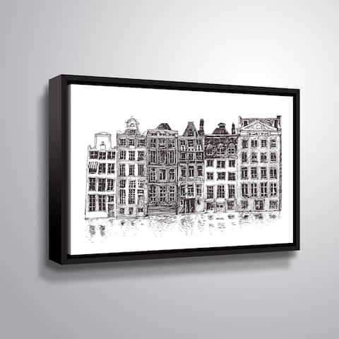 ArtWall 'Amsterdam II' Gallery Wrapped Floater-framed Canvas