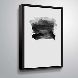 ArtWall 'Grey II' Gallery Wrapped Floater-framed Canvas