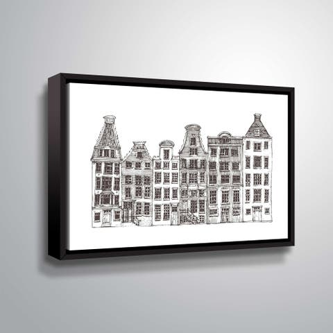 ArtWall 'Amsterdam I' Gallery Wrapped Floater-framed Canvas
