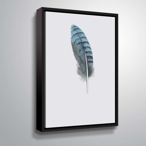 ArtWall 'Feather 02' Gallery Wrapped Floater-framed Canvas