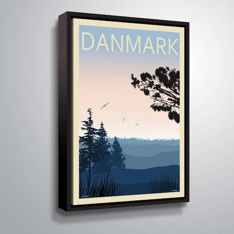 ArtWall 'Pine Forest' Gallery Wrapped Floater-framed Canvas