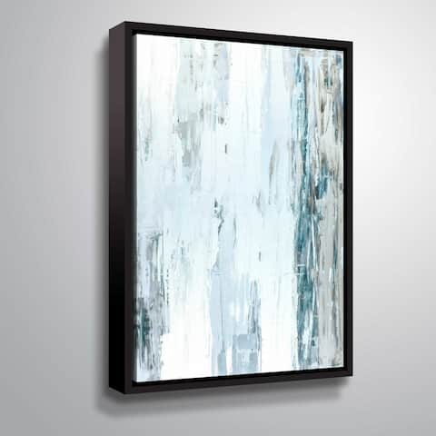ArtWall 'Abstract Blue I' Gallery Wrapped Floater-framed Canvas