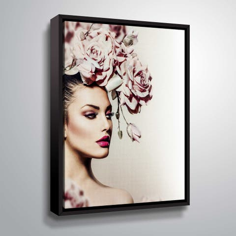 ArtWall 'Rose' Gallery Wrapped Floater-framed Canvas