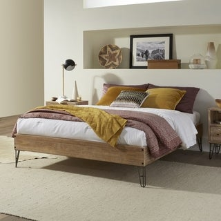 Grain Wood Furniture Montauk Hairpin Platform bed solid wood