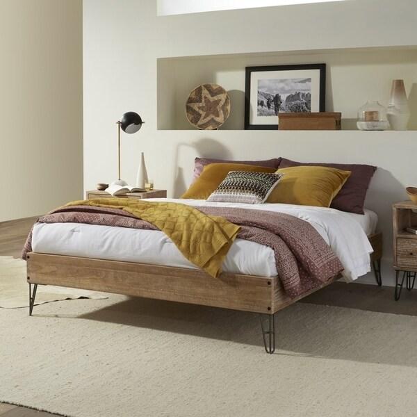 Grain Wood Furniture Montauk Queen-size Hairpin Platform Bed