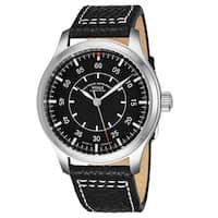 Muhle-Glashutte Men's M1-37-34/4-LB 'TerraSprot I Beobachter' Black Dial Black Leather Strap Automatic Watch