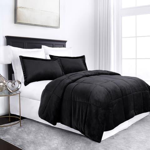 Silver Orchid Voss 3-piece Micromink Goose Down Alternative Comforter Set