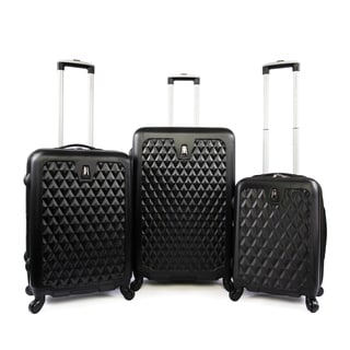 Link to Pacific Coast Pandora Black ABS 3-piece Hardside Spinner Luggage Set Similar Items in Luggage Sets