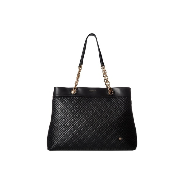 845a60907873 Shop Tory Burch Fleming Triple-Compartment Tote - Black - Free ...