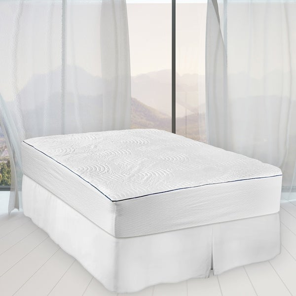 shop tempur pedic cool luxury mattress protector white free shipping today overstock. Black Bedroom Furniture Sets. Home Design Ideas