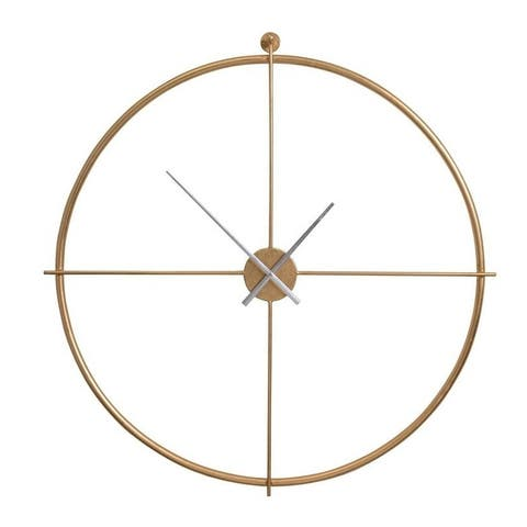 The Curated Nomad Balance Gold Round Wall Clock
