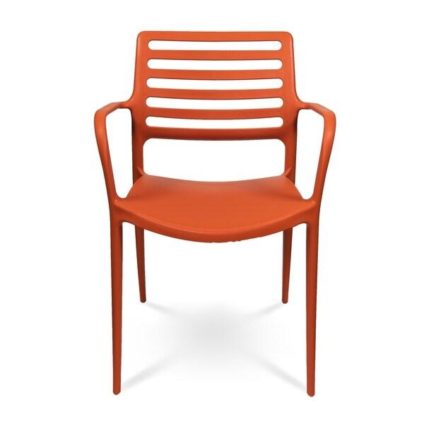 Louise XL Stackable Indoor Outdoor Dining Armchair - Orange
