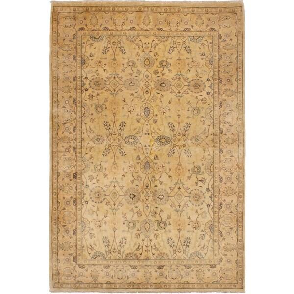 ECARPETGALLERY Hand-knotted Chobi Twisted Tan Wool Rug - 6'0 x 9'0