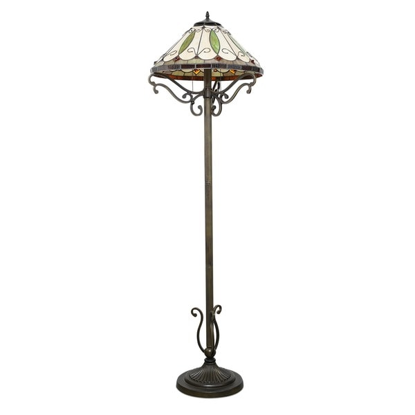 Tiffany style arroyo floor lamp arroyo tiffany style floor for Tiffany style arroyo floor lamp