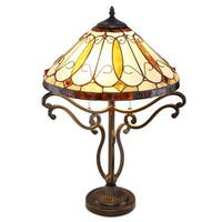 Arroyo Tiffany-style Bronze Table Lamp