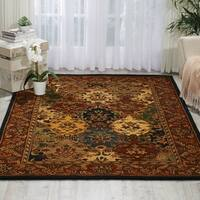 Nourison Hand-tufted Multi-colored Wool Rug (5' x 8') - 5' x 8'