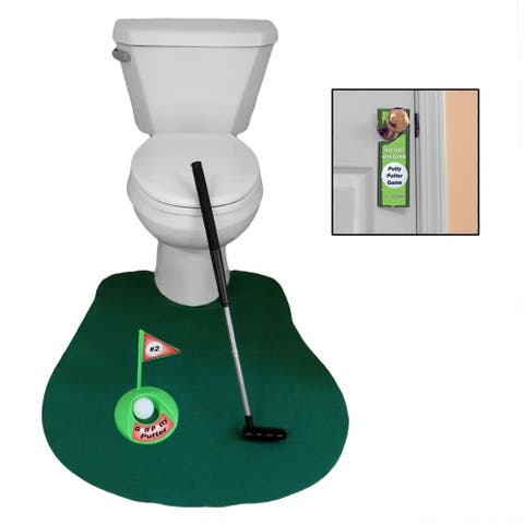 Evelots Potty Golf Game Novelty (6 Piece)