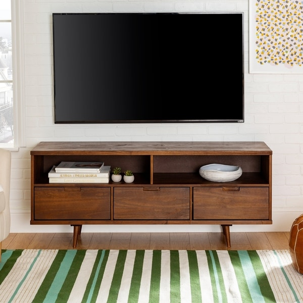 Carson Carrington Alby 58-inch Mid-century 3-drawer TV Console