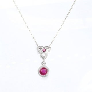 Link to Gems en Vogue 14K White Gold Ruby Pendant Similar Items in Necklaces