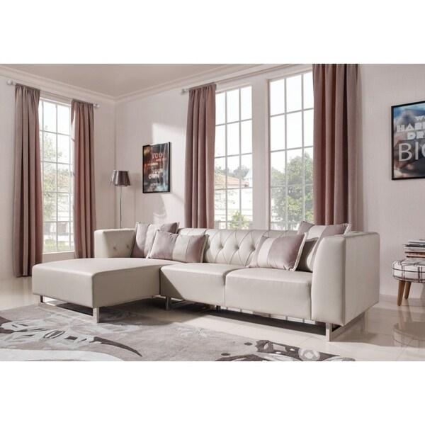 Divani Casa Carolina Modern Leatherette Sectional Sofa