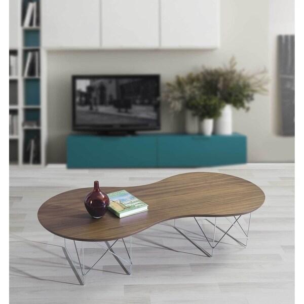 Shop Zenn Natural Reclaimed Wood/Metal Coffee Table