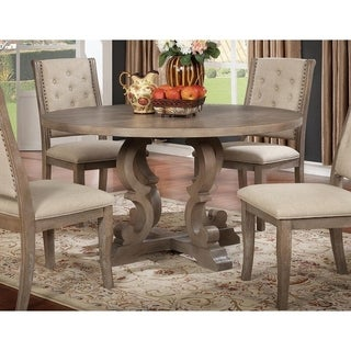 Best Master Furniture Rustic Natural Round Dining Table