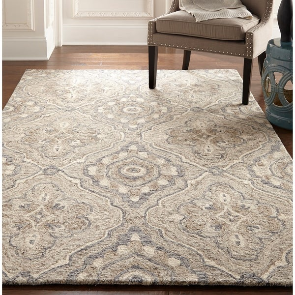 Copper Grove Suresnes Brown and Grey Area Rug