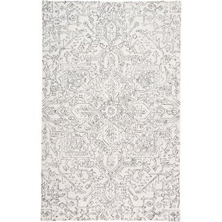 Grand Bazaar Natal Ivory/Gray Transitional Hand Tufted Wool Area Rug