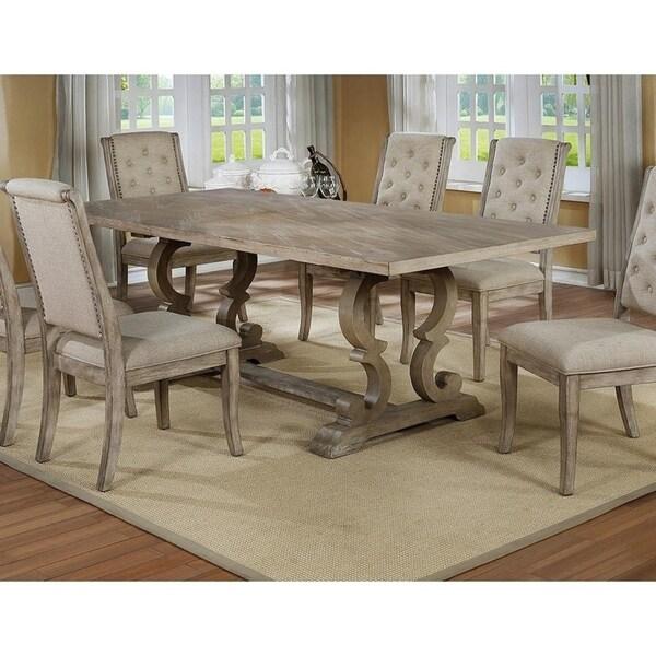 Ordinaire Best Master Furniture Rustic Natural Wood Finish Rectangular Dining Table