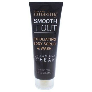 You Are Amazing Vanilla Bean 8-ounce Exfoliating Body Scrub & Wash