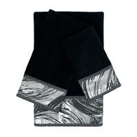 Sherry Kline Cynthaina Black 3-piece Embelished Towel Set