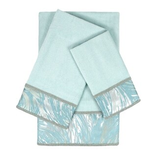 Sherry Kline Cynthaina Sea mist 3-piece Embelished Towel Set