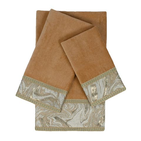 Sherry Kline Earlington Nugget 3-piece Embelished Towel Set