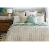 Navya Hand Crafted Tan Cotton Quilt (Shams Not Included)