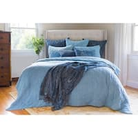 Neysa Hand Stitched Blue Cotton Quilt (Shams Not Included)