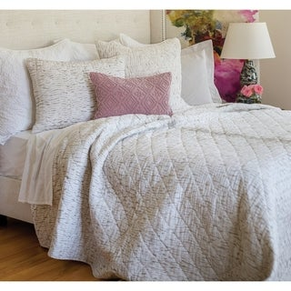 Kaia Cream Hand Dyed Shibori Cotton Quilt (Shams Not Included)