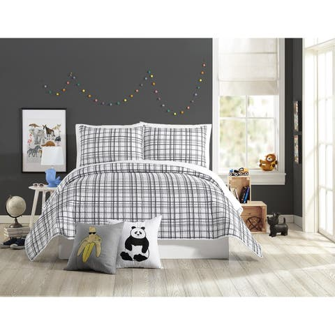 Urban Playground Marquis Charcoal Quilt Set