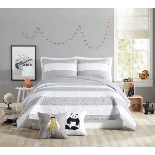 Urban Playground Lavelle Grey Quilt Set