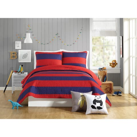 Urban Playground Lavelle Red Quilt Set