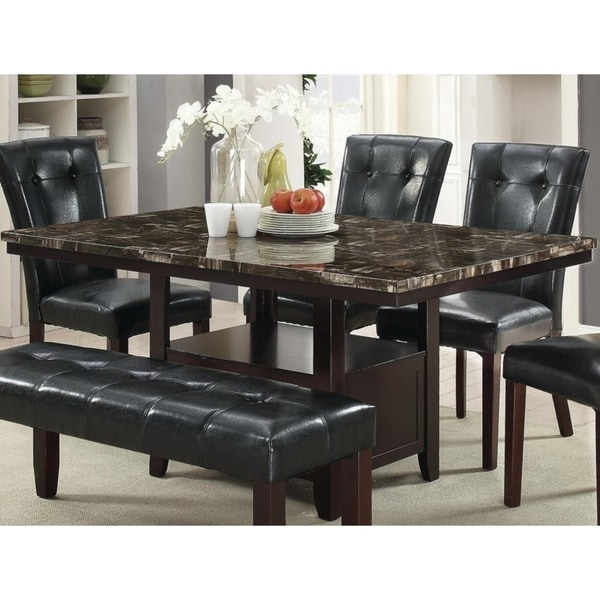 Malone Brown Marble Dining Table