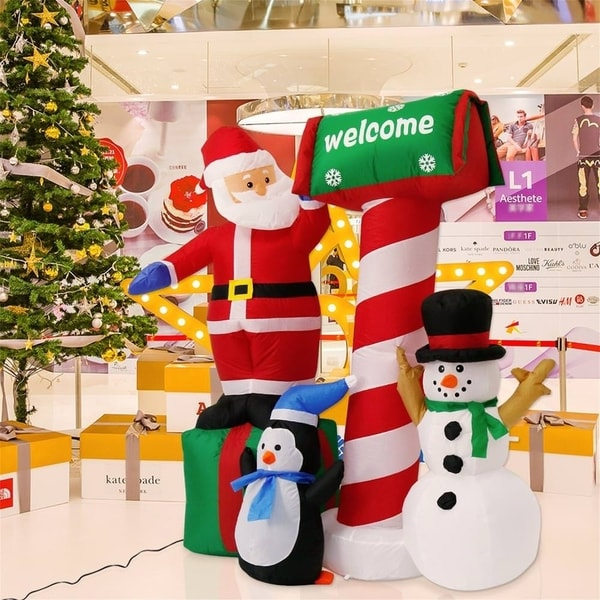 Shop Kinbor 5 3ft Inflatable Christmas Santa Snowman Indoor Outdoor