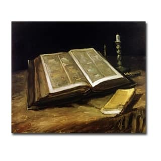 The Bible Still Life by Vincent Van Gogh Gallery Wrapped Canvas Giclee Art (18 in x 22 in, Ready to Hang)