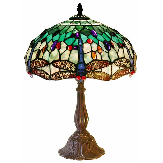Tiffany Style White Dragonflytable Lamp Free Shipping
